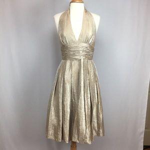Adrianna Papell Halter Cocktail Evening Dress